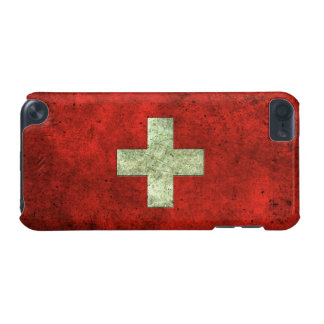 Swiss Flag Aged Steel Effect iPod Touch 5G Case