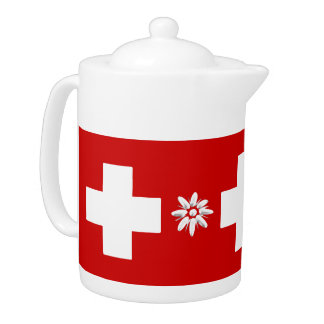 Swiss flag and edelweiss
