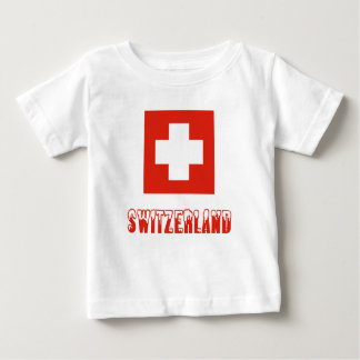 Swiss Flag and Switzerland Baby T-Shirt