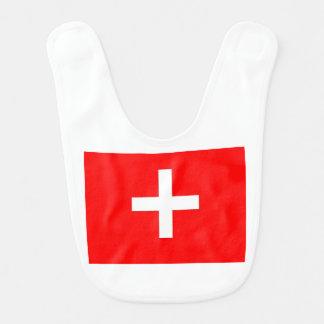 Swiss Flag Baby Bib