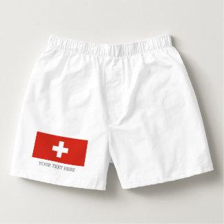 Swiss flag boxer shorts underwear for men boxers