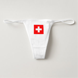 """Swiss"" flag design panties for women"
