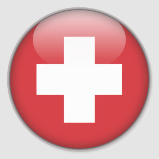 Swiss Flag - Flag of Switzerland Classic Round Sticker