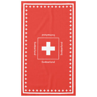 Swiss Flag - Flag of Switzerland Tablecloth