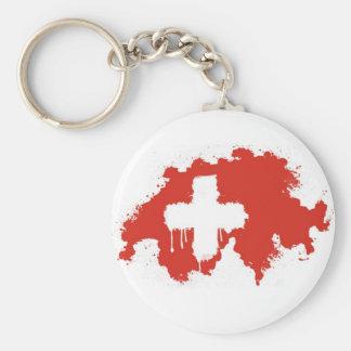 Swiss Flag Key Ring
