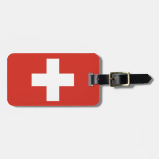 Swiss flag luggage tags for bags and suitcases