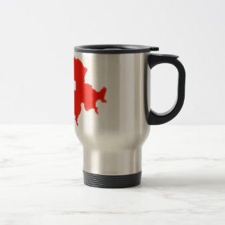 Swiss flag map travel mug