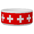 Swiss Flag Pet Bowl