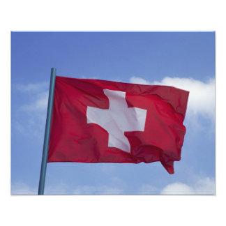 Swiss Flag RF) Photo Print
