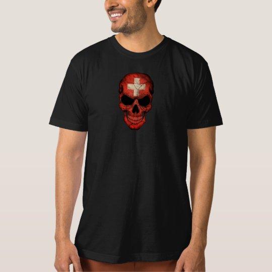 Swiss Flag Skull T-Shirt