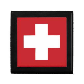 Swiss Flag Small Square Gift Box