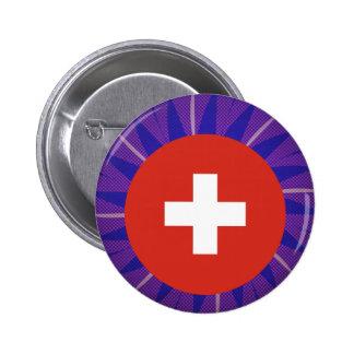 Swiss Flag Souvenir 6 Cm Round Badge