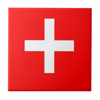 Swiss Flag Tile