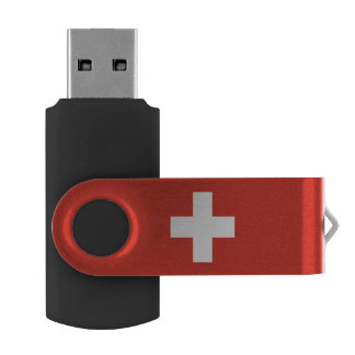 Swiss flag USB flash drive