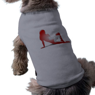 Swiss Girl Silhouette Flag Sleeveless Dog Shirt