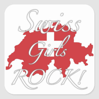 Swiss Girls Rock! Square Sticker