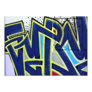 Swiss graffiti 13 cm x 18 cm invitation card