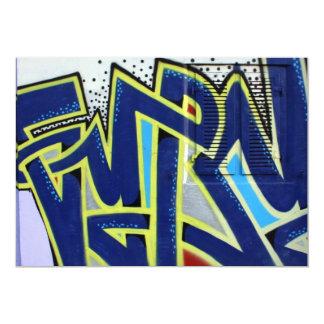 Swiss graffiti 13 cm x 18 cm invitation card
