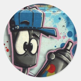 Swiss Graffiti Classic Round Sticker
