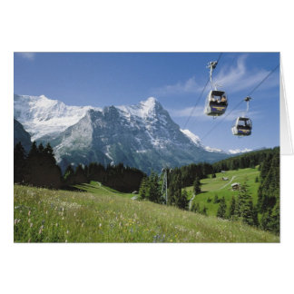 Swiss Greetings cards, Grindelwald, Cablecars Card