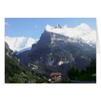 Swiss Greetings cards, Grindelwald, Mountains Card
