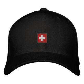 Swiss Hat - Switzerland Cap With Swiss Flag Embroidered Baseball Cap