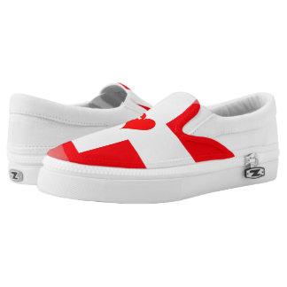 Swiss heart slip on shoes