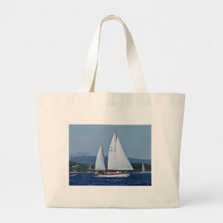 Swiss Ketch in Corsica. Large Tote Bag