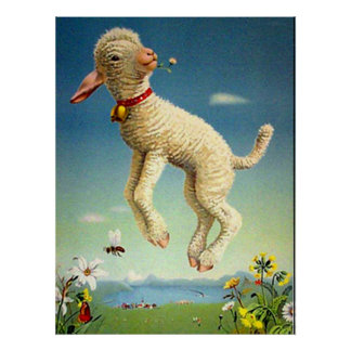 Swiss Lamb Vintage Poster