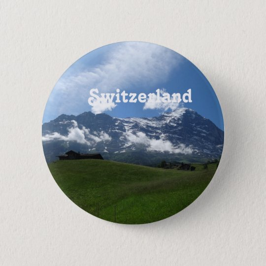 Swiss Landscape 6 Cm Round Badge