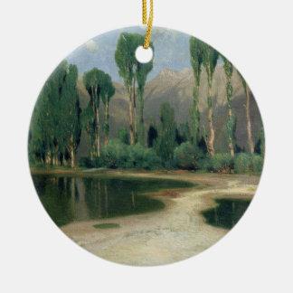 Swiss Landscape Christmas Ornament