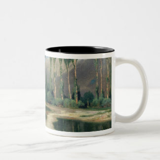 Swiss Landscape Two-Tone Coffee Mug