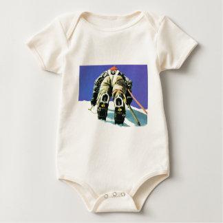Swiss mountain scene baby bodysuit