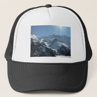 Swiss mountain village life trucker hat