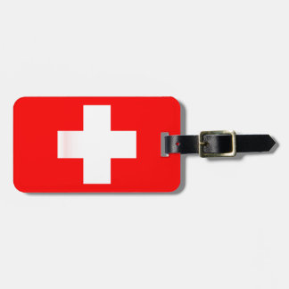 Swiss National Flag Luggage Tag