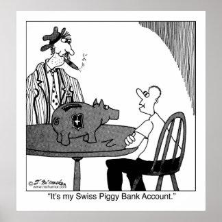 Swiss Piggy Bank Account Poster