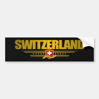 """Swiss pride"" Bumper Sticker"