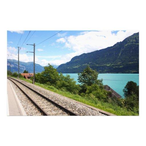 Swiss railway track customized stationery