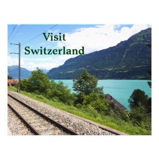 Swiss railway track flyers