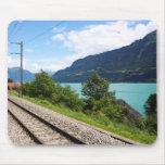 Swiss railway track mousepad