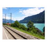 Swiss railway track post cards