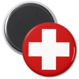 Swiss Red Cross Emergency Recovery Roundell 6 Cm Round Magnet