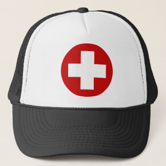 Swiss Red Cross Emergency Recovery Roundell Trucker Hat