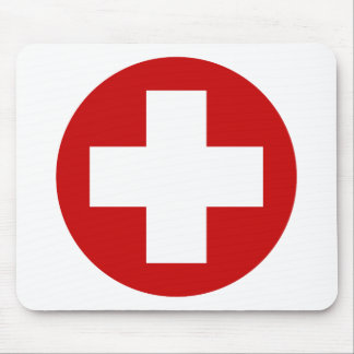 Swiss Red Cross Emergency Roundell Mouse Pad
