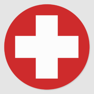 Swiss Red Cross Emergency Roundell Stickers