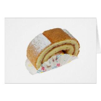 Swiss roll greeting card
