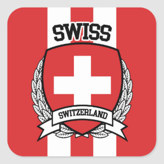 Swiss Square Sticker