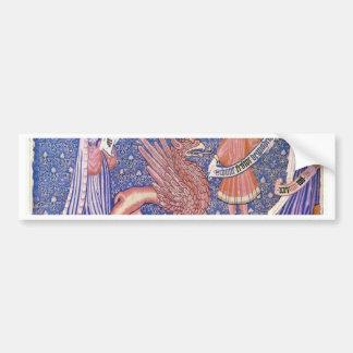 Swiss Tapestry Fragment By Schweizer Tapisseur Bumper Sticker
