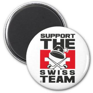SWISS TEAM 6 CM ROUND MAGNET