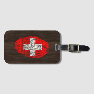 Swiss touch fingerprint flag luggage tag